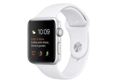 Apple Watch Series 1 38mm Silver Aluminum Case With White Sport Band - MNNG2LL/A