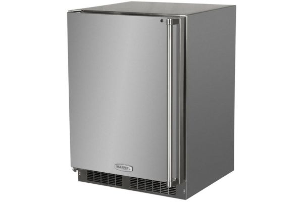 """Large image of Marvel 24"""" Stainless Steel Outdoor Freezer - MO24FAS1LS"""