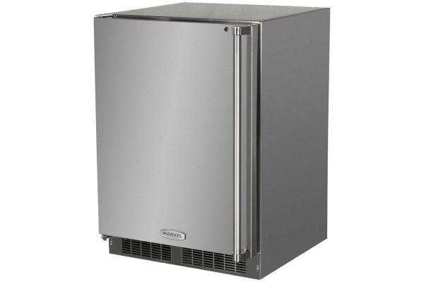 "Marvel 24"" Stainless Steel Outdoor Refrigerator - MO24RFS2LS"