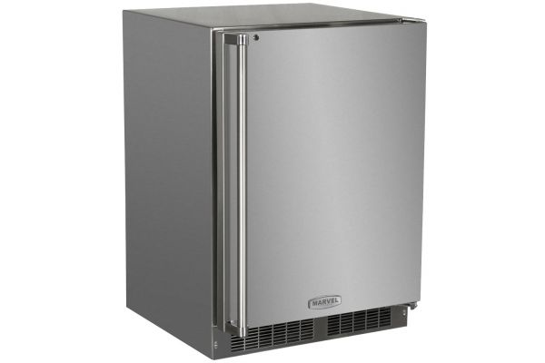 """Large image of Marvel 24"""" Stainless Steel Outdoor Refrigerator - MO24RFS2RS"""