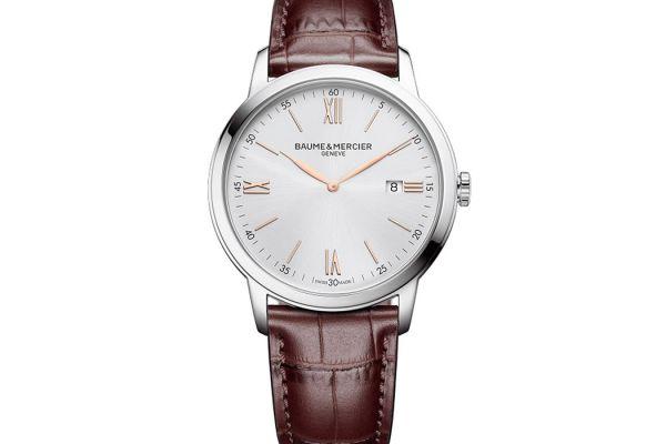 Large image of Baume & Mercier 42mm Classima Quartz Mens Silver Watch - MOA10415