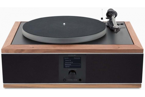 Large image of Andover Black And Walnut Model-One Turntable Music System - MODEL1