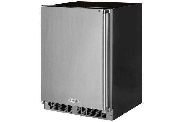 "Marvel 24"" Stainless Steel Professional Freezer - MP24FAS4LS"