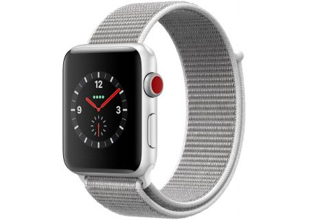 Apple Watch Series 3 42mm GPS + Cellular Silver Aluminum Case With Seashell Sport Loop - MQK52LL/A