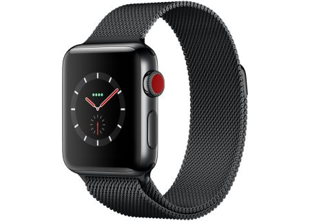 Apple Watch Series 3 Cellular 38mm Space Black Stainless Steel Case And Milanese Loop Band - MR1H2LL/A