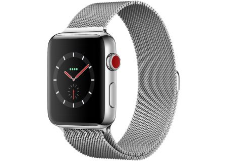 Apple Watch Series 3 42mm GPS + Cellular Stainless Steel Case With Milanese Loop Band - MR1J2LL/A