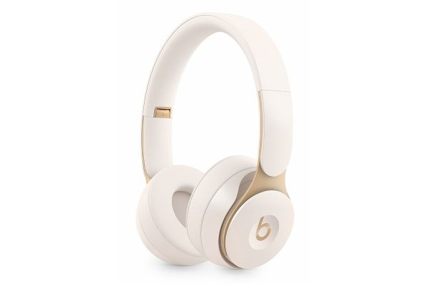 Large image of Beats By Dr. Dre Solo Pro Ivory Wireless Noise Cancelling On-Ear Headphones - MRJ72LL/A