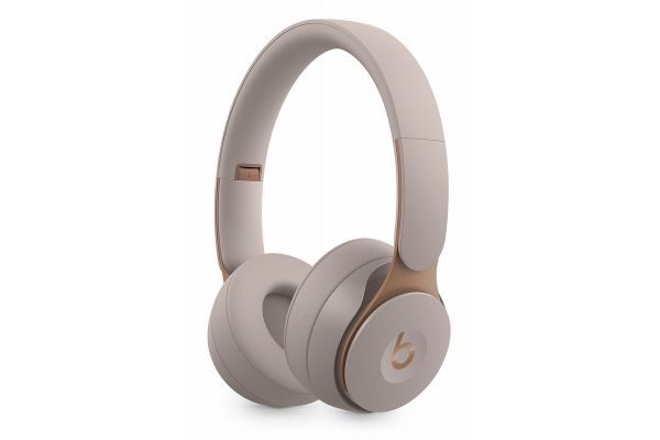 Large image of Beats By Dr. Dre Solo Pro Grey Wireless Noise Cancelling On-Ear Headphones - MRJ82LL/A