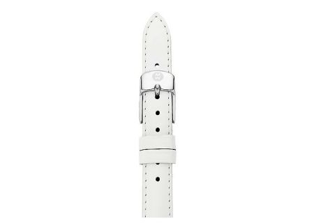 Michele 12mm White Patent Leather Watch Band - MS12AA050100