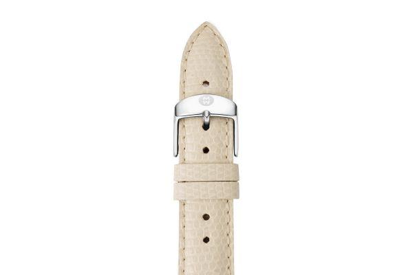 Large image of Michele 18mm Vanilla Lizard Watch Strap - MS18AA030120