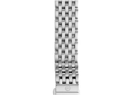 Michele 18mm Deco 7 Link Stainless Steel Bracelet - MS18AU235009
