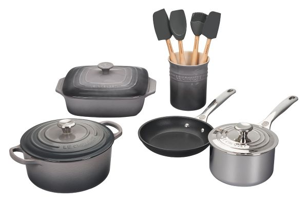 Le Creuset Oyster 12-Piece Mixed Material Cookware Set - MS1912-7F