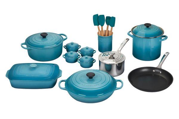 Le Creuset Caribbean 20-Piece Mixed Material Cookware Set - MS1920-17