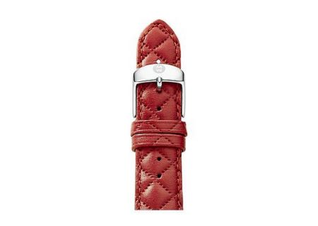 Michele 20mm Red Quilted Leather Watch Band - MS20AB370600