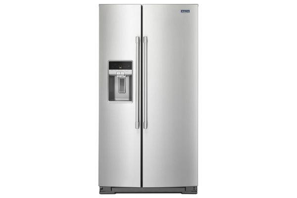 "Large image of Maytag 36"" Fingerprint Resistant Stainless Steel Counter Depth Side-By-Side Refrigerator - MSC21C6MFZ"