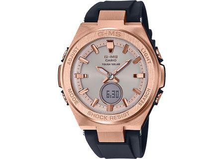 Casio G-Shock Baby-G G-MS Rose Gold & Black Watch - MSG-S200G-1ACR