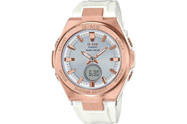 Casio G-Shock Baby-G G-MS Rose Gold & White Womens Watch - MSG-S200G-7ACR