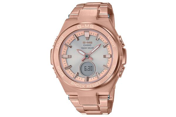 Large image of G-Shock G-MS Rose-Tone Womens Watch - MSGS200DG-4A