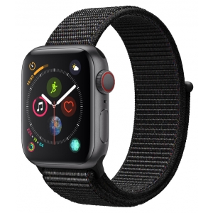 Apple Watch Series 4 GPS & Cellular 40mm Space Gray Aluminum Case With Black Sport Loop