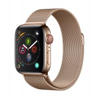 Apple Watch Series 4 GPS & Cellular 40mm Gold Stainless Steel Case with Gold Milanese Loop