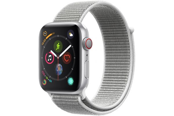 Apple Watch Series 4 GPS & Cellular 44mm Silver Aluminum Case With Seashell Sport Loop - MTUV2LL/A