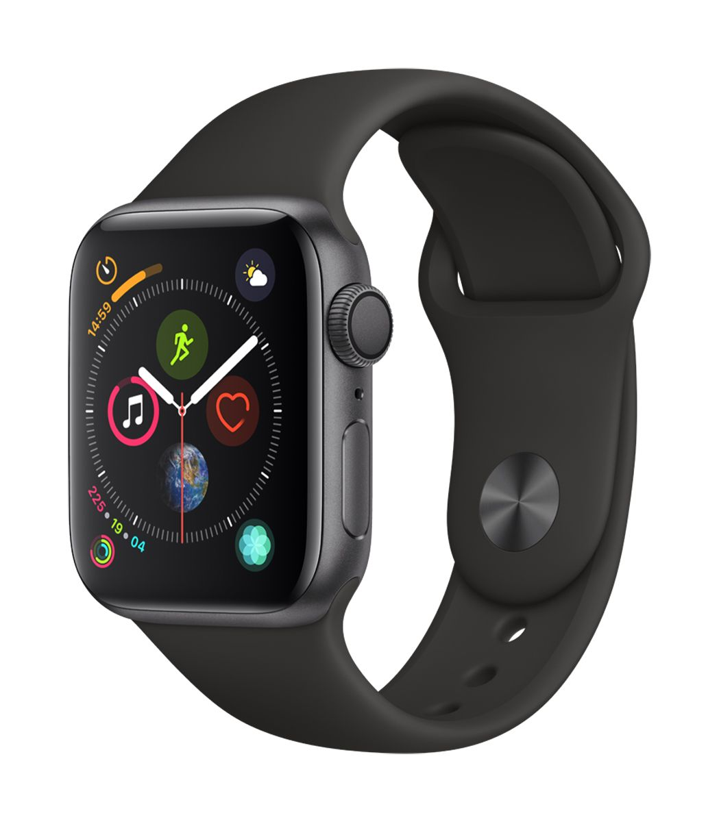 best loved 04161 0d02e Apple Watch Series 4 GPS 40mm Space Gray Aluminum Case with Black Sport Band