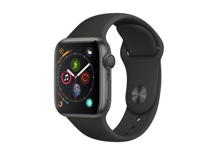 Apple Watch Series 4 GPS 40mm Space Gray Aluminum Case with Black Sport Band - MU662LL/A
