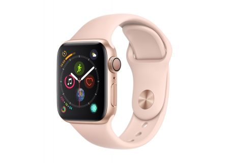 Apple Watch Series 4 GPS 40mm Gold Aluminum Case with Pink Sand Sport Band - MU682LL/A
