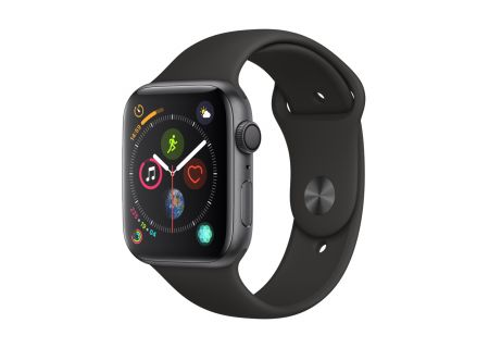 Apple Watch Series 4 GPS 44mm Space Gray Aluminum Case with Black Sport Band - MU6D2LL/A