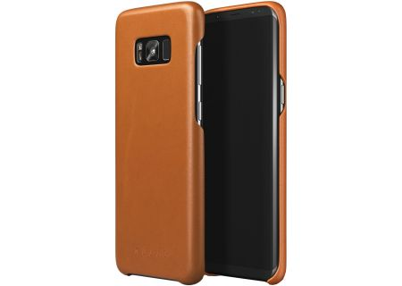 Mujjo Saddle Tan Leather Case for Galaxy S8 Plus - MUJJO-CS-064-ST