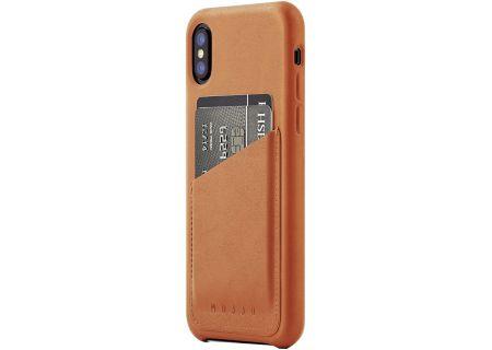 Mujjo Tan Full Leather Wallet Case for iPhone X - MUJJO-CS-092-TN