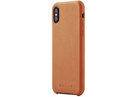 Mujjo Tan Full Leather Case for iPhone X - MUJJO-CS-095-TN