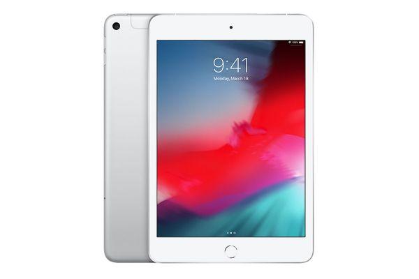 Large image of Apple iPad mini 256GB Wi-Fi + Cellular Silver (2019) - MUXN2LL/A