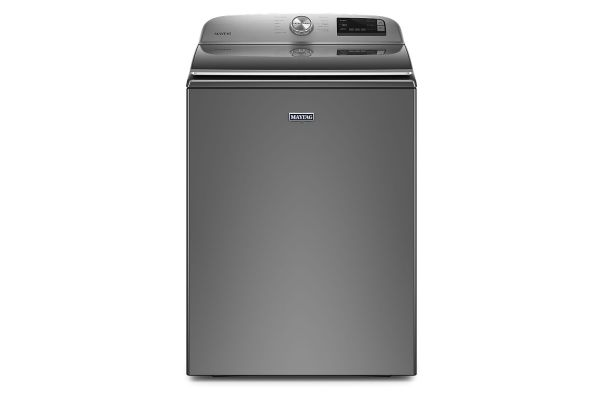 Large image of Maytag 4.7 Cu. Ft. Metallic Slate Smart Capable Top Load Washer With Extra Power Button - MVW6230HC