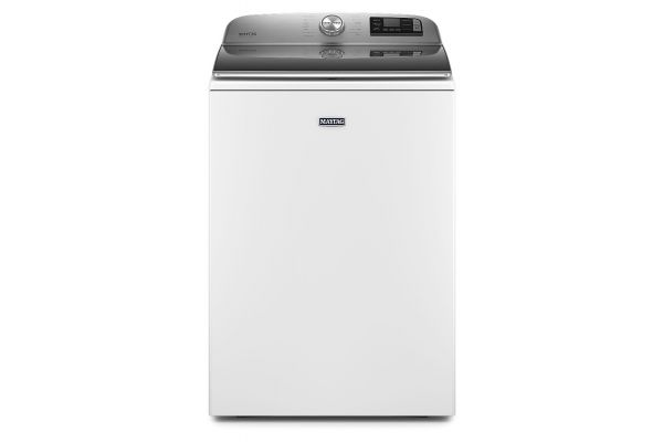 Large image of Maytag 5.2 Cu. Ft. White Smart Capable Top Load Washer With Extra Power Button - MVW7230HW