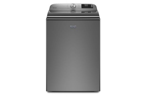 Large image of Maytag 5.3 Cu. Ft. Metallic Slate Smart Capable Top Load Washer With Extra Power Button - MVW7232HC