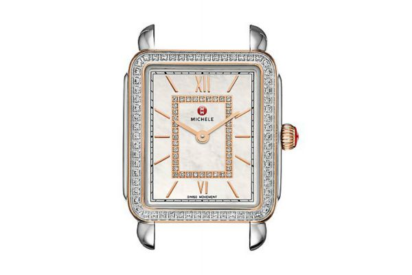 Michele Deco II Mid Diamond Two-Tone Rose Gold Dial Womens Watch Head - MW06I01D2963