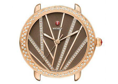 Michele Serein Mid City Lights Rose Gold Diamond Dial Womens Watch Head - MW21B01B4099