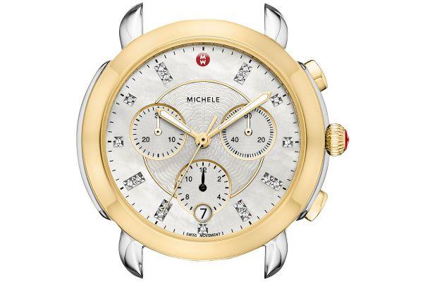 Michele Sidney Two-Tone Diamond Dial Womens Watch Head - MW30A00C9046