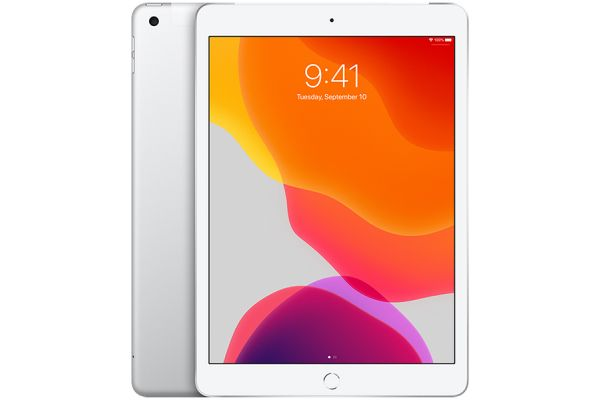 Apple iPad 10.2-Inch 32GB Wi-Fi + Cellular Silver (2019) - MW6X2LL/A