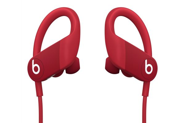 Large image of Beats By Dr. Dre Powerbeats Red High-Performance Wireless Earphones - MWNX2LL/A & 13951444