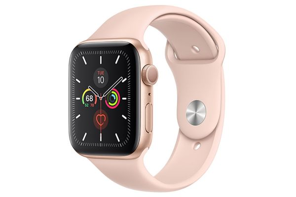 Apple Watch Series 5 GPS 40mm Gold Aluminum Case With Pink Sand Sport Band - MWV72LL/A