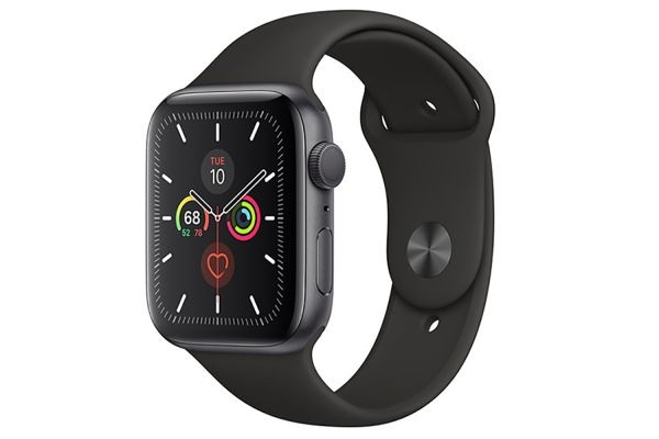 Apple Watch Series 5 GPS 40mm Space Gray Aluminum Case With Black Sport Band - MWV82LL/A