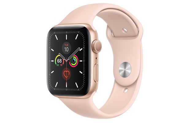 Apple Watch Series 5 GPS 44mm Gold Aluminum Case With Pink Sand Sport Band - MWVE2LL/A
