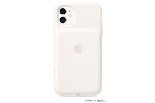 Large image of Apple iPhone 11 White Smart Battery Case With Wireless Charging - MWVJ2LL/A