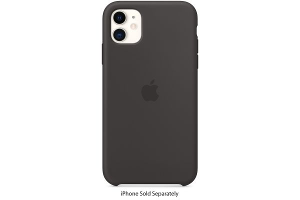 Large image of Apple iPhone 11 Black Silicone Case - MWVU2ZM/A