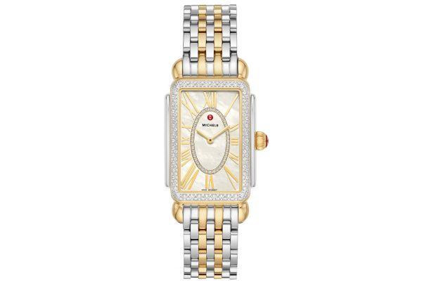 Large image of Michele Deco Park Two-Tone Diamond Womens Watch - MWW06E000143