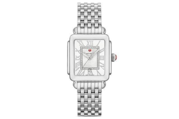 Large image of Michele Deco Madison Mid Stainless Steel Diamond Dial Watch - MWW06G000012