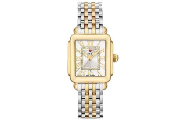 Large image of Michele Deco Madison Mid Two-Tone Diamond Dial Womens Watch - MWW06G000013