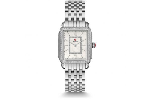 Large image of Michele Deco II Mid-Size Diamond, Diamond Dial Womens Watch - MWW06I000001